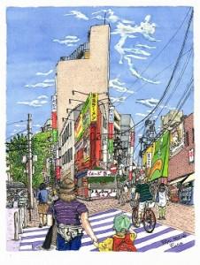 2014/11/5~11/10 人生初の「ペン画水彩スケッチ展」